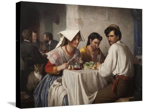 In a Roman Osteria, 1866-Carl Bloch-Stretched Canvas Print