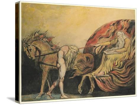 God Judging Adam, c.1795-William Blake-Stretched Canvas Print