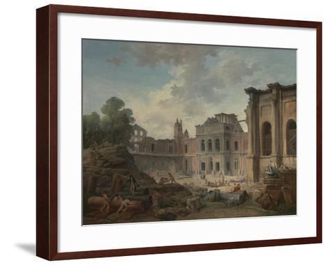 Demolition of the Chateau of Meudon, 1806-Hubert Robert-Framed Art Print