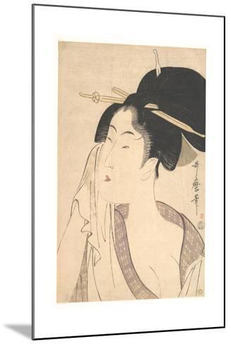 Woman Relaxing after Her Bath, 1790s-Kitagawa Utamaro-Mounted Giclee Print
