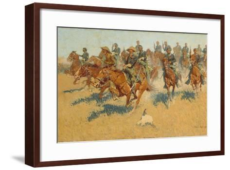 On the Southern Plains, 1907-Frederic Remington-Framed Art Print