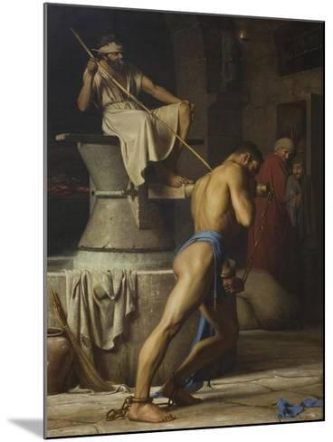Samson and the Philistines, 1863-Carl Bloch-Mounted Giclee Print