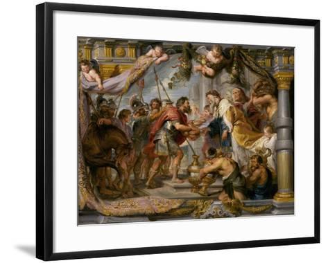 The Meeting of Abraham and Melchizedek, c.1626-Peter Paul Rubens-Framed Art Print