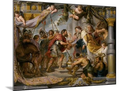 The Meeting of Abraham and Melchizedek, c.1626-Peter Paul Rubens-Mounted Giclee Print