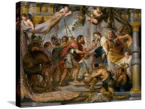 The Meeting of Abraham and Melchizedek, c.1626-Peter Paul Rubens-Stretched Canvas Print