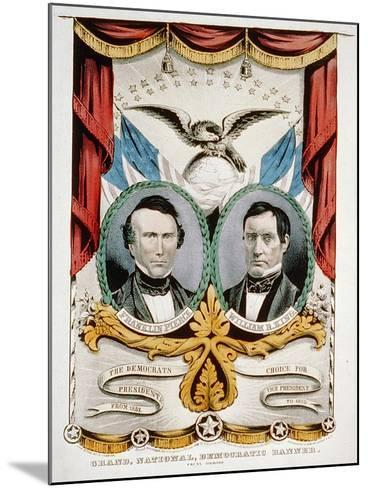 Democratic Presidential Campaign Banner, 1852-American School-Mounted Giclee Print