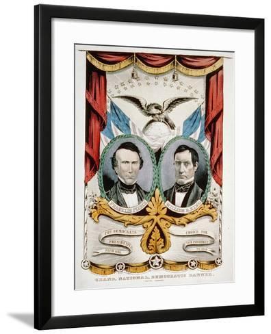 Democratic Presidential Campaign Banner, 1852-American School-Framed Art Print
