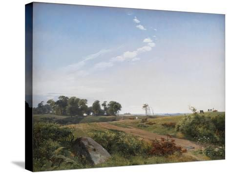 Zealand Landscape. Open Country in North Zealand, 1842-Johan Thomas Lundbye-Stretched Canvas Print