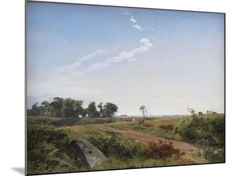 Zealand Landscape. Open Country in North Zealand, 1842-Johan Thomas Lundbye-Mounted Giclee Print