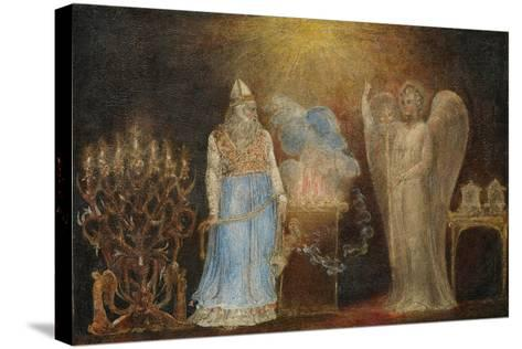 The Angel Appearing to Zacharias, 1799–1800-William Blake-Stretched Canvas Print
