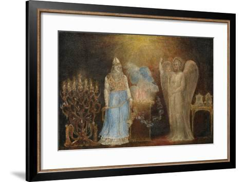 The Angel Appearing to Zacharias, 1799–1800-William Blake-Framed Art Print