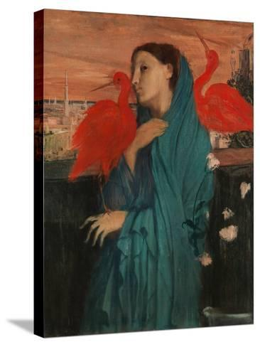 Young Woman with Ibis, 1860-62-Edgar Degas-Stretched Canvas Print