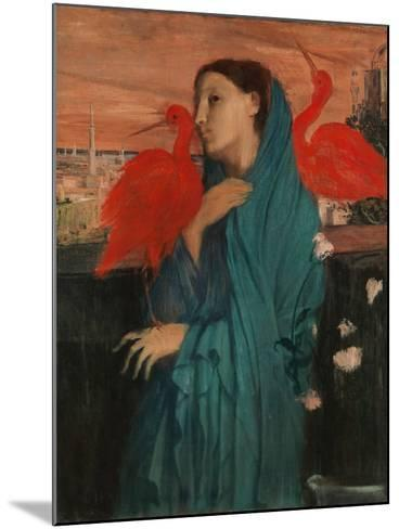 Young Woman with Ibis, 1860-62-Edgar Degas-Mounted Giclee Print