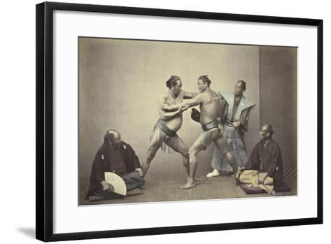 Representatives of Nio, the Japanese Hercules, 1866-7-Felice Beato-Framed Art Print