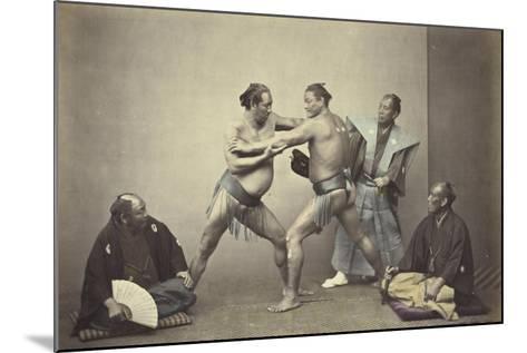 Representatives of Nio, the Japanese Hercules, 1866-7-Felice Beato-Mounted Giclee Print