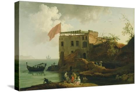 View of Gaiola, c.1770-90-Pierre Jacques Volaire-Stretched Canvas Print