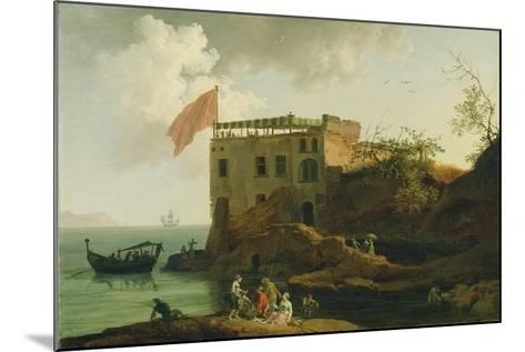 View of Gaiola, c.1770-90-Pierre Jacques Volaire-Mounted Giclee Print