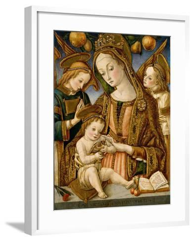 Madonna and Child with Two Angels, c.1481-82-Vittorio, Crivelli-Framed Art Print