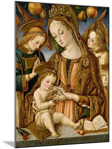 Madonna and Child with Two Angels, c.1481-82-Vittorio, Crivelli-Mounted Giclee Print