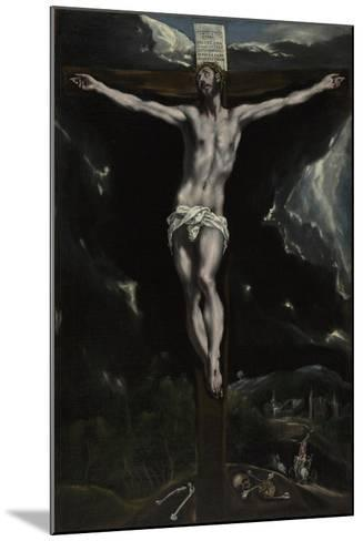 Christ on the Cross, 1600-10-El Greco-Mounted Giclee Print