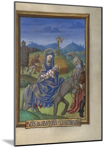 The Flight into Egypt from a Book of Hours Ms. 48 fol. 67, c.1480-90-Georges Trubert-Mounted Giclee Print