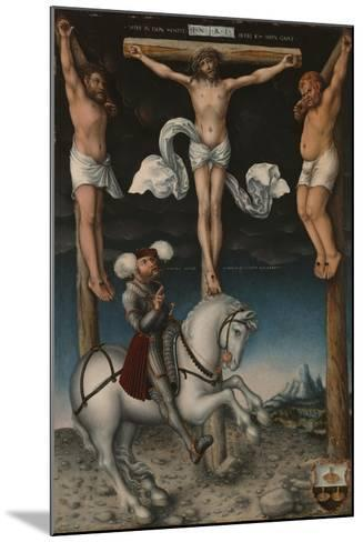 The Crucifixion with the Converted Centurion, 1538-Lucas, The Elder Cranach-Mounted Giclee Print