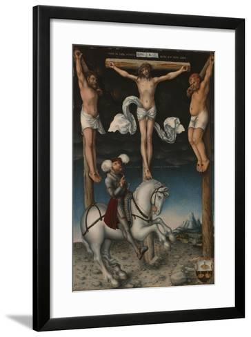 The Crucifixion with the Converted Centurion, 1538-Lucas, The Elder Cranach-Framed Art Print