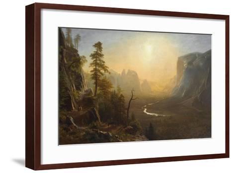 Yosemite Valley, Glacier Point Trail, c.1873-Albert Bierstadt-Framed Art Print