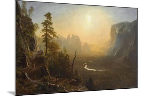Yosemite Valley, Glacier Point Trail, c.1873-Albert Bierstadt-Mounted Giclee Print