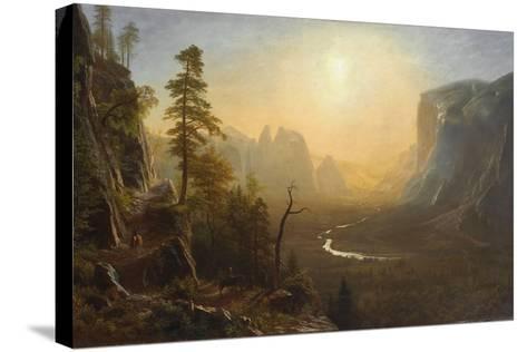 Yosemite Valley, Glacier Point Trail, c.1873-Albert Bierstadt-Stretched Canvas Print