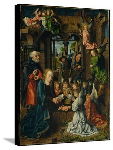 The Adoration of the Christ Child, c.1500- Master of Frankfurt-Stretched Canvas Print