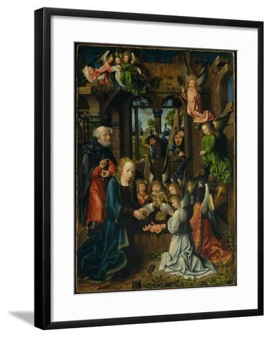 The Adoration of the Christ Child, c.1500- Master of Frankfurt-Framed Art Print