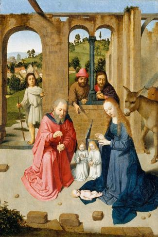 The Nativity, c.1482-Gerard David-Stretched Canvas Print