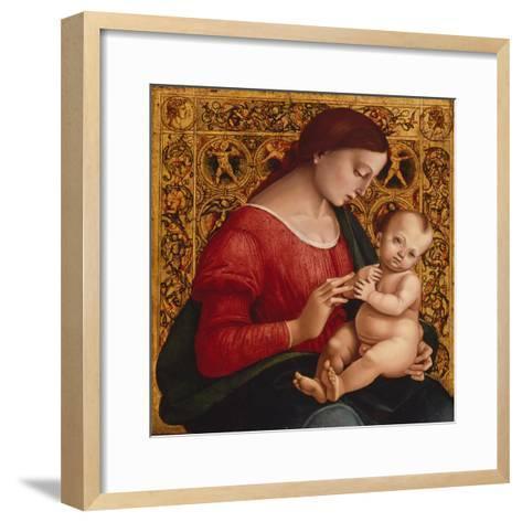 Madonna and Child, c.1505-07-Luca Signorelli-Framed Art Print