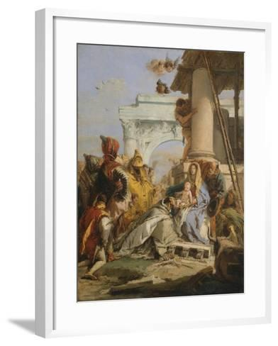 The Adoration of the Magi-Giovanni Battista Tiepolo-Framed Art Print