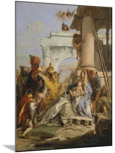 The Adoration of the Magi-Giovanni Battista Tiepolo-Mounted Giclee Print