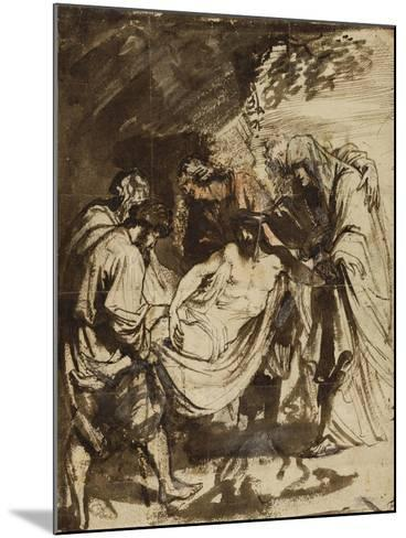 The Entombment (1617-1618)-Anthony van Dyck-Mounted Giclee Print