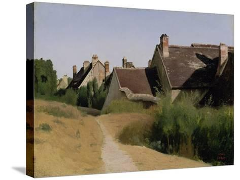 Houses near Orléans. c.1830-Jean-Baptiste-Camille Corot-Stretched Canvas Print