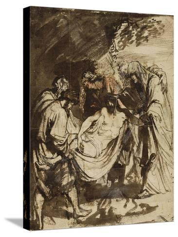 The Entombment (1617-1618)-Anthony van Dyck-Stretched Canvas Print
