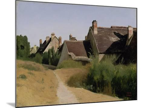 Houses near Orléans. c.1830-Jean-Baptiste-Camille Corot-Mounted Giclee Print