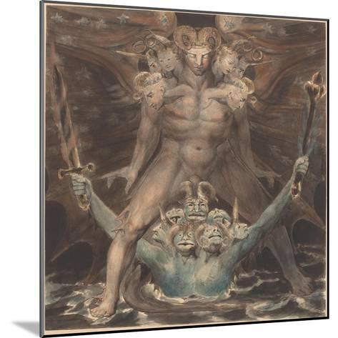 The Great Red Dragon and the Beast from the Sea, c.1805-William Blake-Mounted Giclee Print