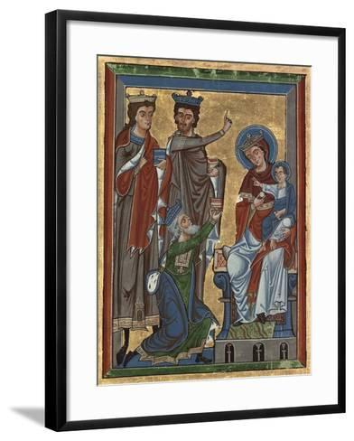 Adoration of the Magi from Psalter Ms 4, c.1240-German School-Framed Art Print