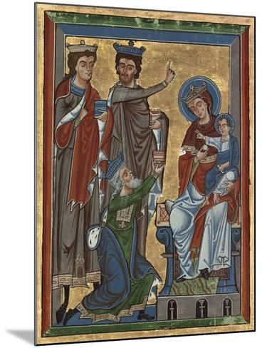 Adoration of the Magi from Psalter Ms 4, c.1240-German School-Mounted Giclee Print