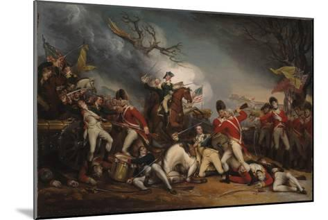 The Death of General Mercer at the Battle of Princeton, January 3, 1777-John Trumbull-Mounted Giclee Print