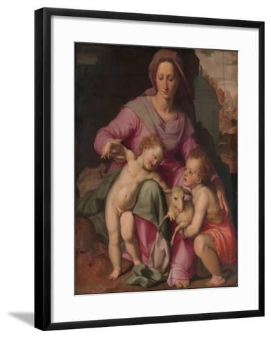 Madonna and Child with the Infant Saint John the Baptist, c.1572-Santi di Tito-Framed Art Print