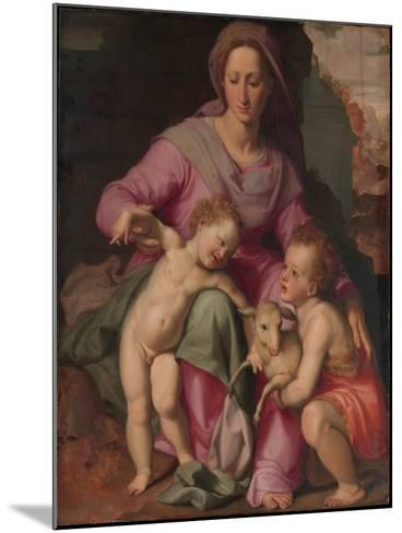 Madonna and Child with the Infant Saint John the Baptist, c.1572-Santi di Tito-Mounted Giclee Print