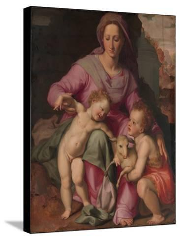 Madonna and Child with the Infant Saint John the Baptist, c.1572-Santi di Tito-Stretched Canvas Print