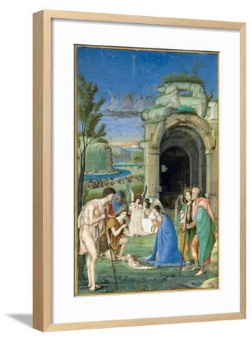 Adoration of the Shepherds, c.1500-Francesco Marmitta-Framed Art Print