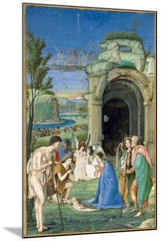 Adoration of the Shepherds, c.1500-Francesco Marmitta-Mounted Giclee Print