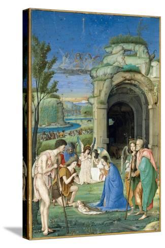 Adoration of the Shepherds, c.1500-Francesco Marmitta-Stretched Canvas Print